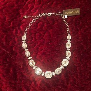 Carolee Emerald cut crystal necklace